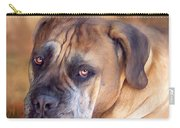 Mastiff Portrait Carry-all Pouch by Carol Cavalaris