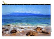 Maui Beach And View Of Lanai Carry-all Pouch
