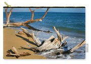 Maui Beach Dirftwood Fine Art Photography Print Carry-all Pouch