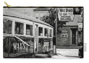Max's Diner New Jersey Black And White Carry-all Pouch