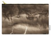 May Showers - Lightning Thunderstorm Sepia Hdr Carry-all Pouch
