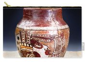 Mayan Pre Columbian Warrior Vase. Carry-all Pouch
