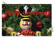 Custom Soldier Christmas Card Carry-all Pouch