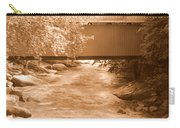 Mcconnells Mill Covered Bridge Sepia Carry-all Pouch