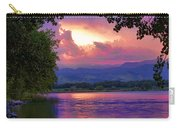 Mcintosh Lake Sunset Carry-all Pouch