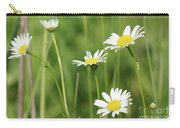 Meadow Detail White Wild Flowers Carry-all Pouch