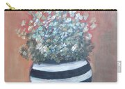 Meadow Flowers In Striped Vase  Carry-all Pouch