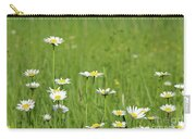 Meadow With White Wild Flowers Spring Scene Carry-all Pouch