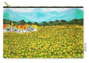 Meadow With Yellow Dandelions, Oil Painting Carry-all Pouch