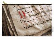 Medieval Choir Book Carry-all Pouch