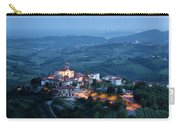 Medieval Hilltop Village Of Smartno Brda Slovenia At Dusk With S Carry-all Pouch