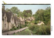 Medieval Houses In Arlington Row In Cotswolds Countryside Landsc Carry-all Pouch