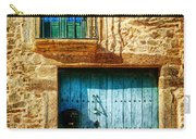 Medieval Spanish Gate And Balcony - Vintage Version Carry-all Pouch