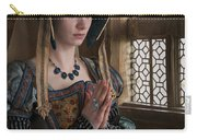 Medieval Tudor Woman At Prayer Carry-all Pouch