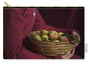 Medieval Woman Holding A Basket Of Apples Carry-all Pouch