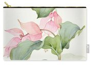 Medinilla Magnifica Carry-all Pouch by Sarah Creswell