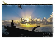 Meditating At Sunrise Carry-all Pouch