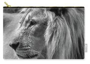Meditative Lion In Black And White Carry-all Pouch