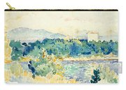 Mediterranean Landscape With A White House Carry-all Pouch