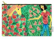 Meeting In The Rose Garden Carry-all Pouch by Sushila Burgess