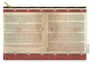 Meguilat Esther-esther Scroll The Whole Text Carry-all Pouch