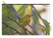 Mellow Yellow - American Warbler - Setophaga Petechia Carry-all Pouch