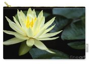 Mellow Yellow Water Lily Carry-all Pouch