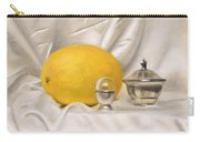 Melon On White Silk Carry-all Pouch