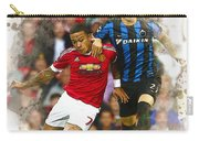Memphis Depay Of Manchester United In Action Carry-all Pouch
