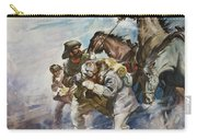 Men And Horses Battling A Storm Carry-all Pouch