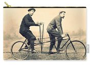 Men On Dual Bicycle, Cca 1900 Carry-all Pouch