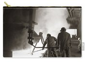 Men Working Blast Furnace At Steel Carry-all Pouch