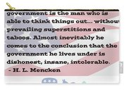 Mencken Quote 7 Carry-all Pouch