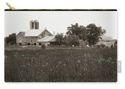 Mennonite Farm - Brown And White Field Carry-all Pouch