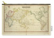 Mercator's Chart Carry-all Pouch