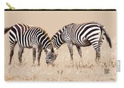 Merging Zebra Stripes Carry-all Pouch
