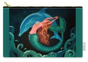 Mermaid And Dolphin  Carry-all Pouch