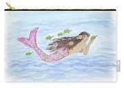 Mermaid And Her Sea Turtle Carry-all Pouch