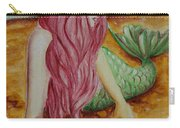 Mermaid On Sand With Heart Carry-all Pouch