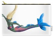 Mermaid On White Carry-all Pouch