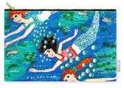 Mermaid Race Carry-all Pouch by Sushila Burgess