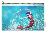 Mermaid Red Carry-all Pouch