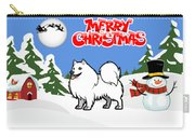 Merry Christmas American Eskimo Dog  Carry-all Pouch