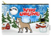 Merry Christmas American Pitbull Terrier  Carry-all Pouch