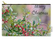 Merry Christmas - Berries Carry-all Pouch