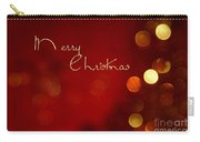 Merry Christmas Card - Bokeh Carry-all Pouch