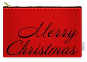 Merry Christmas In Black Carry-all Pouch