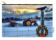 Winter Farm Sunset Carry-all Pouch