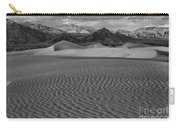 Mesquite Dunes Black And White Carry-all Pouch