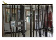 Metal Bars Leading Into Cellblock In Prison Carry-all Pouch